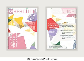 Abstract Brochure Flyer design Layout vector template in A4 size