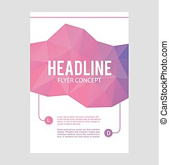 Abstract brochure or flyer design template