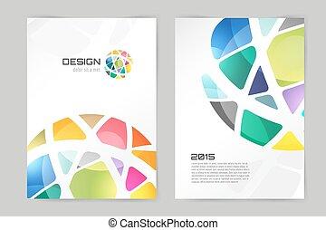 Abstract brochure or flyer design template. Book design,...