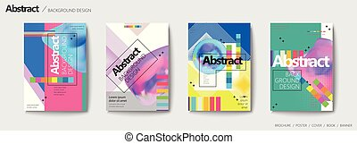 Abstract brochure set