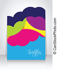abstract  brochure with special design