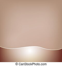 Abstract brown background with a glossy wavy frill at the...