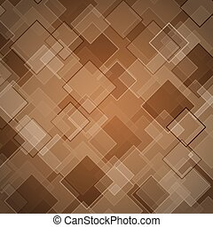 Abstract brown background with rhombus