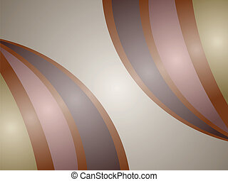 Abstract brown balloons