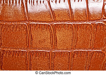 Abstract brown crocodile leather, can use as background