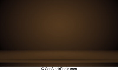 Abstract brown gradient well used as background for product display