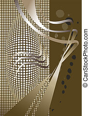 Abstract brown nuance background