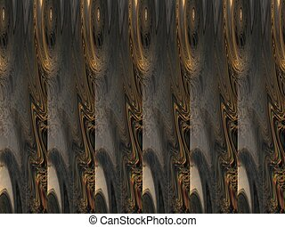 Abstract Brown Picture Showing Repetition