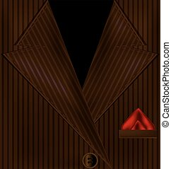 abstract brown suit