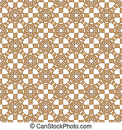 abstract brown sun cross pattern