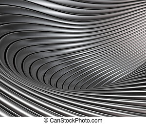 Abstract brushed metal concept