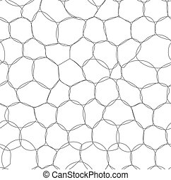 Abstract bubbles seamless pattern