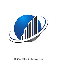 Abstract building globe logo design template. Line real estate planet sign. Universal global realty vector icon