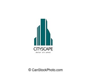 Abstract building logo design template. Creative cityscape logotype for your company.