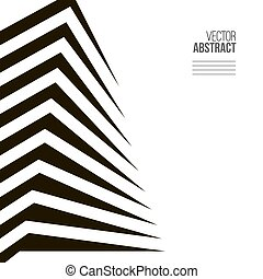Abstract building. Modern architecture concept background. Black and white
