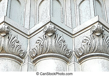 Abstract Building Romanesque Two - Abstract church pillars ...
