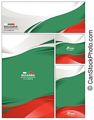 Abstract Bulgaria Flag Background