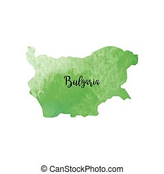 Abstract Bulgaria map