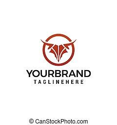 abstract Bull head logo design concept template vector