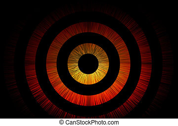 Abstract bullseye background