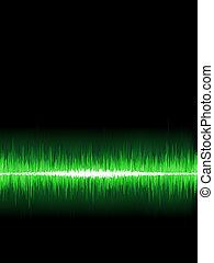Abstract burn waveform. EPS 8