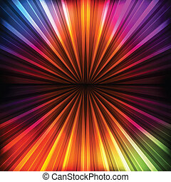 Abstract burst background with neon effects and colorful...