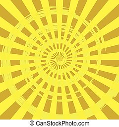 Abstract Burst Ray Background Yellow