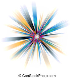 Abstract Burst - An abstract burst illustration. Very...