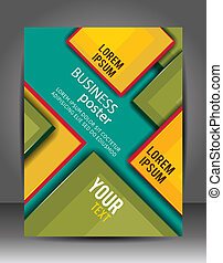 Abstract Business Background. Brochure or flyer template.