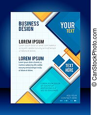 Abstract Business Background. Flyer or brochure template