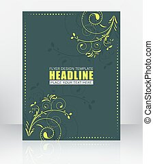 Abstract business background for flyer or brochure with floral pattern