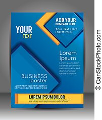 Abstract Business Background. Layer template. Brochure or flyer