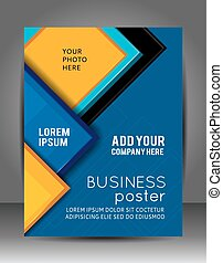Abstract Business Background. Layer template