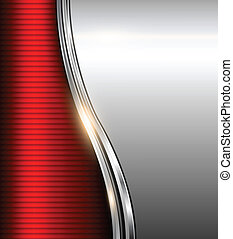 Abstract business background red and silver, vector...
