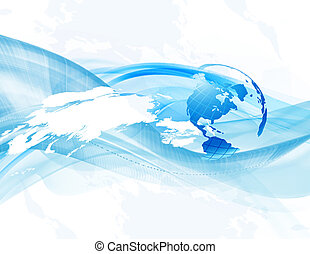 Abstract business background with globe and map (bitmap)