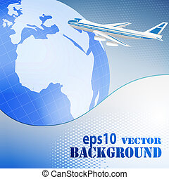 Abstract business background with airplane
