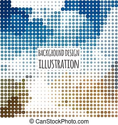 abstract business background with colorful dots, vector illustration
