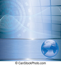 Abstract business background with earth globe