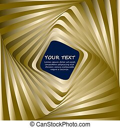 Abstract business background with gold wave