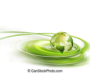 green world - Abstract business background with green world