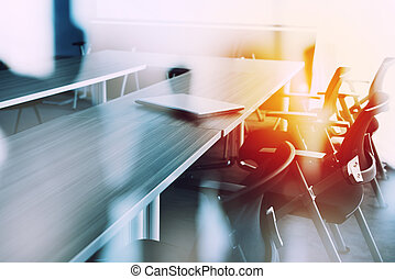 Abstract business background with meeting room