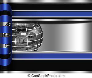 Abstract business background with sphere from dollar