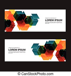 Abstract business banner background vector illustration