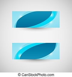 Abstract business banner blue wave background