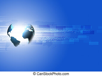 Abstract Business Blue Background