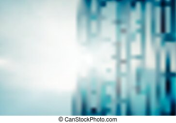 Abstract business building light background