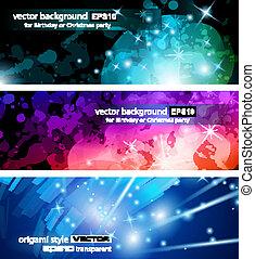 Flow of lights header backgrounds