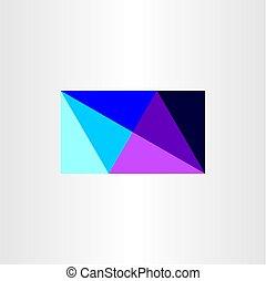 geometric triangular business card