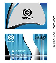 Abstract Business Card set vector