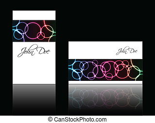 Abstract business card with special plasma design
